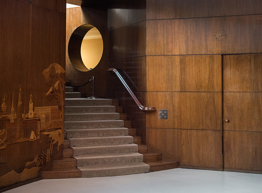eltham palace, art deco, interior photography, interiors, deco, wood panelling, marquetry